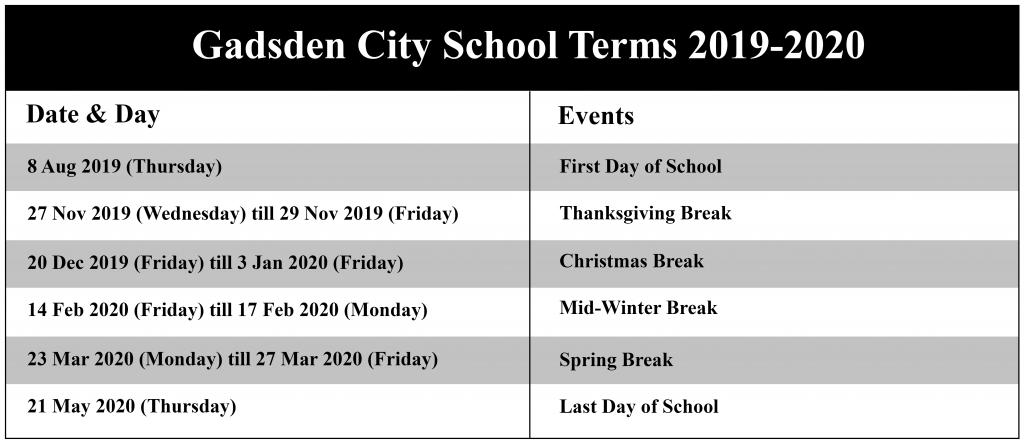 Gadsden City Schools Calendar
